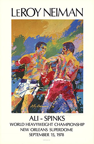LEROY NEIMAN-Ali - Spinks-1978 Offset Lithograph-Signed ()