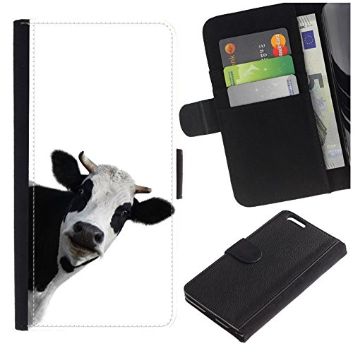 [Funny Cow] For LG G6/H871/H872/LS993/US997/VS988, Flip Leather Wallet Holsters Pouch Skin Case