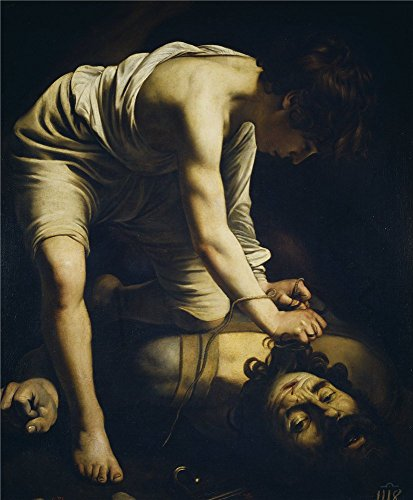 - The Polyster Canvas Of Oil Painting 'Caravaggio David Victorious Over Goliath Early 17 Century ' ,size: 16 X 19 Inch / 41 X 49 Cm ,this Best Price Art Decorative Canvas Prints Is Fit For Game Room Artwork And Home Gallery Art And Gifts