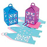 Snowflake & Christmas Star Lantern Kits for Children to Assemble Decorate and Hang - Creative Xmas/Winter Craft Activity for Kids (Pack of 4)