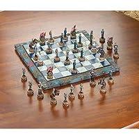 Civil War Themed Chess Set Kids Adults Tournament Games Revolutionary Medieval Modern Tabletop Standard Decor