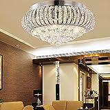 KJLARS Crystal Ceiling Light Fixture Flush Mount