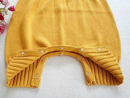 Wennikids Baby Girls Boys Sweater Shoulder Strap Romper Medium Blue