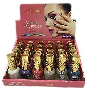 xuancai 24 colors vitamin nail polish,20ml,set of 24 pcs