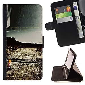 Momo Phone Case / Flip Funda de Cuero Case Cover - Soledad Camino solo Naturaleza Desierta - Sony Xperia M4 Aqua