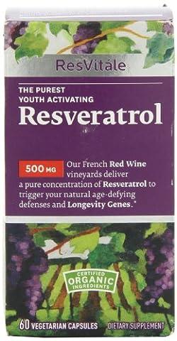 ResVitle Resveratrol 500mg 60 Vegetarian Capsules