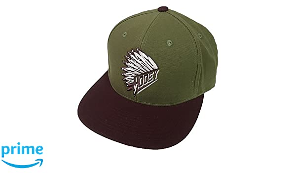 new style 854fd f3a6c Amazon.com  HOOey Brand Quanah Olive Green Snapback Hat - 1770T-GN  Clothing