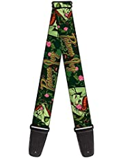"""Buckle-Down GS-WDC011 Gitaarband - POISON IVY Bombshell Poses Greens/Reds - 2"""" Breed - 29-54"""" Lengte"""