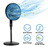 16 Inches Remote Control Stand Fan, Oscillating