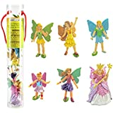 Safari Ltd Fairy Fantasies Toy Figurine TOOB, Including 6 Winged Fairies: Rose the Fairy Queen, Dais (Discontinued by manufacturer)