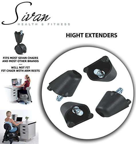 "Sivan Height Extenders (2"") for Balance Ball Chairs; Set of 4 by Sivan Health and Fitness"