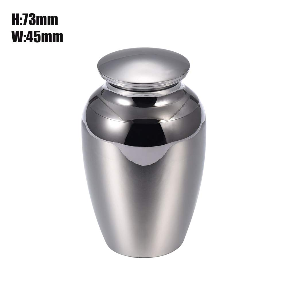 Polished Funeral Casket Stainless Cremation Urns Human Pet