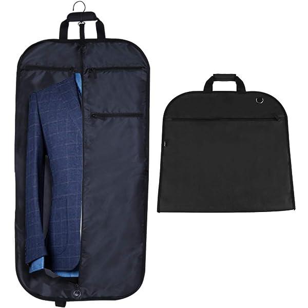 "Black 44/"" 110cm Large Suit Carrier Garment Cover Travel Bag Strong Nylon UK New"