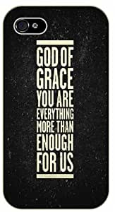 God of grace you are everything more than enough for us - Stars - Bible verse Case For Sam Sung Note 2 Cover black plastic case / Christian Verses
