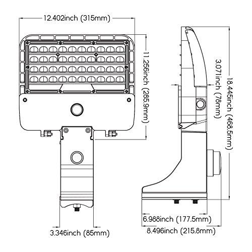 Parking Lot Lights Lithonia: 105W LED Shoebox Area Pole Light, Parking Lot Outdoor