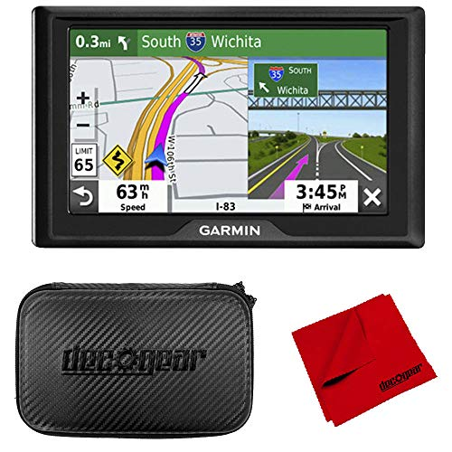 Garmin Drive 52 5″ GPS Navigator and 7″ EVA Case Bundle (2019 Model)