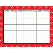 Teacher Created Resources Red Polka Dots Calendar Chart, Red (7709) by Teacher Created Resources