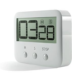 PINGKO Digital Kitchen Timer, Big Digits, Loud Alarm, Magnetic Backing,  Stand,