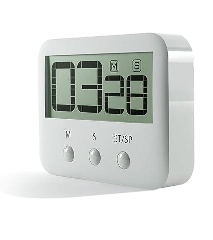 pingko Digital temporizador de cocina, grandes dígitos, Loud Alarma, base magnética, función atril, Countup & temporizador de cuenta atrás máxima a 99 ...