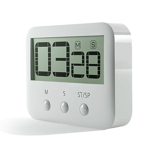 pingko Digital temporizador de cocina, grandes dígitos, Loud Alarma, base magnética, función
