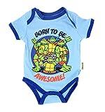 Teenage Mutant Ninja Turtles Born Awesome Blue Baby Onesie Romper (6-9 Months)
