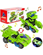 Dinosaurus Transformers auto, dinosaurusauto, speelgoed, transforming licht en muziek, cadeaus jongen dinosaurusspeelgoed vanaf 3-10 jaar jongen, transforming dinos auto