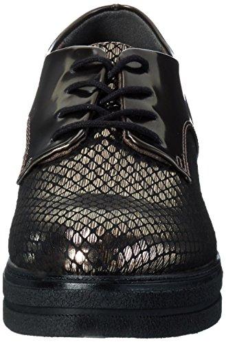 23310 Cordones Pewt Zapatos Grap Tamaris St Mujer de Oxford 909 para Plateado tdxawq8ZwU