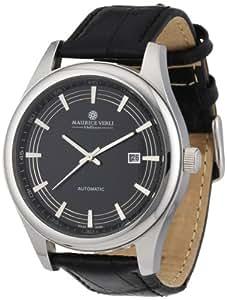 Maurice Verli MV-111667 - Reloj de caballero automático, correa de piel color negro