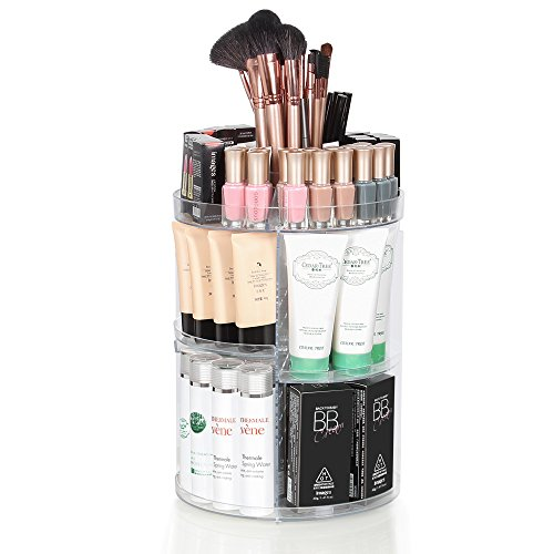 Rotating Makeup Organizer 360 - Acrylic Make Up Organizers and Storage Containers - use as your Bathroom Organizer Perfume Organizer