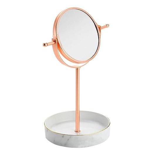 Zxwzzz Espejos De Maquillaje El Espejo Giratorio De Belleza HD De ...