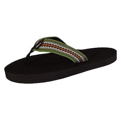 online retailer 82ca1 57848 Teva Womens Mush II Webbing Thong Flip Flop Sandals