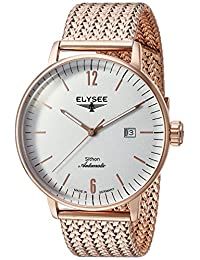 ELYSEE Men's 'Classic-Edition' Automatic Gold and Stainless Steel Casual Watch, Color:Silver-Toned (Model: 13282M)