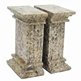 Khan Imports Decorative Coral Stone Bookends, Traditional Coral 35th Anniversary Gift