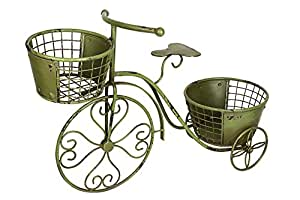 Attraction Design HG1102 Metal Nostalgia Yard Bike Planter