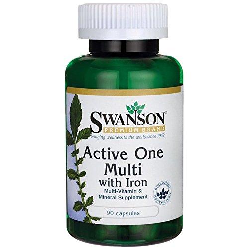Swanson Active Multivitamin Iron Caps