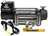 Superwinch 1511200 Tiger Shark 11.5, 12 VDC winch, 11,500 lb/5,216 kg capacity with roller fairlead