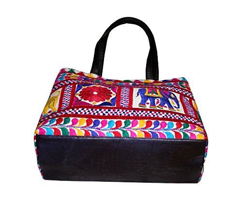 New India Banjara Handmade tribale borsa borsetta hippie ricamato grande Cottonbag