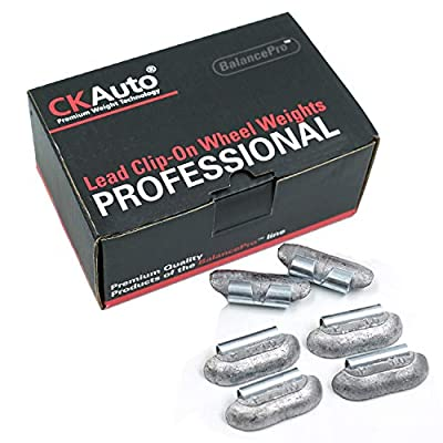 CKAuto P Style 1oz Lead Clip on Wheel Weights, Uncoated, 25Pcs/Box: Automotive
