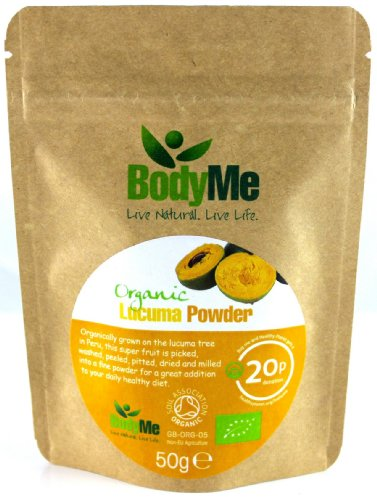 BodyMe Organic Lucuma Superfruit Powder | 50 g | Soil Association Certified
