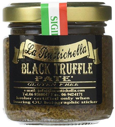 La Rustichella - Black Truffle Pate - Small (90 g, 3.2 oz) - Kosher, Gluten Free