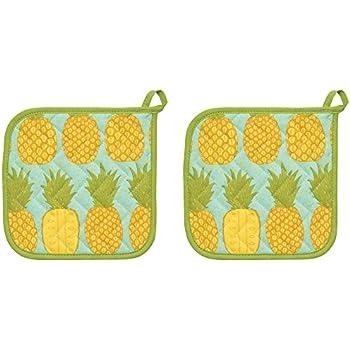 Now Designs Basic Potholders, Pineapples, Set of 2