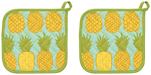 Now Designs Basic Potholders, Pineapples, Set of 2 ()