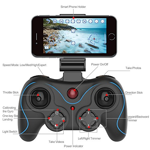 Holy Stone HS160 Shadow FPV RC Drone with 720P HD Wi-Fi Camera Live Video Feed 2.4GHz 6-Axis Gyro Quadcopter for Kids & Beginners - Altitude Hold, One Key Start, Foldable Arms,Bonus Battery by Holy Stone (Image #8)