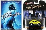 Footloose Deluxe Edition DVD with Hot Wheels Yellow Volkswagen Beetle 1:64 Die-Case Retro Entertainment Car Bundle