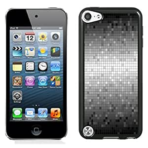 Beautiful Custom Designed Cover Case For iPod Touch 5th With Dark and Grey Mosaics Background Phone Case