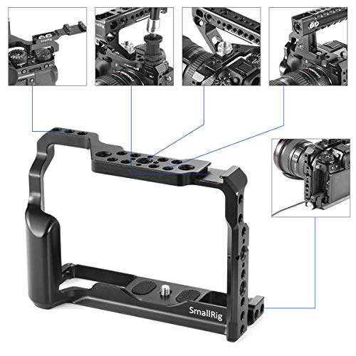 SMALLRIG Camera Cage for Fujifilm X-T3, Aluminum Alloy Cage with Cold Shoe, NATO Rail, Threaded Holes for Arri 3/8'',1/4''-20,3/8''-16 (2228) by SMALLRIG (Image #4)