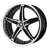 Motegi Racing MR107 Gloss Black Wheel With Machined Face (16x7''/5x108mm, 45mm offset)