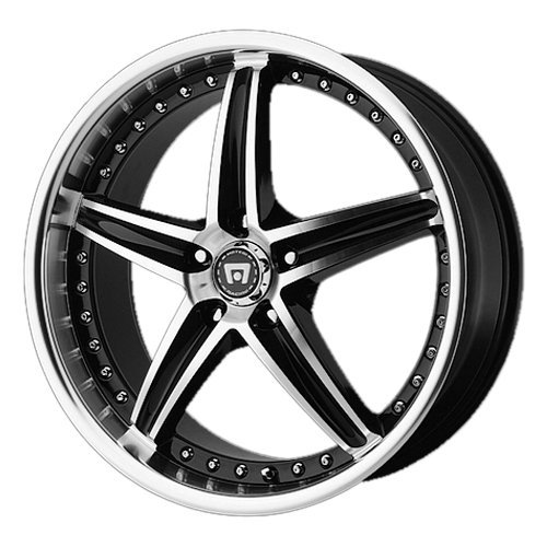 Motegi Racing  MR107 Wheel with Gloss Black Machined (17×7.5″/5x112mm)