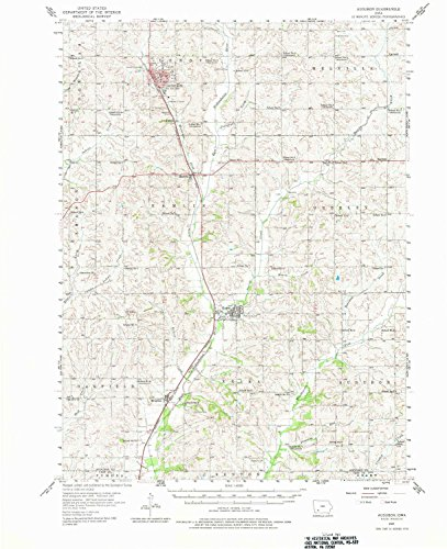 YellowMaps Audubon IA topo map, 1:62500 scale, 15 X 15 Minute, Historical, 1957, updated 1981, 21 x 17.1 IN - ()