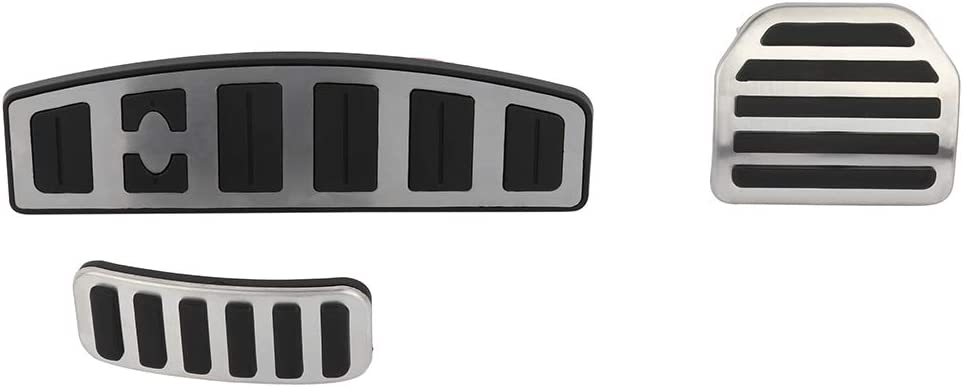 OCPTY Accelerator Gas Pedal Brake Pedal Cover Aluminum Alloy Foot Pedal Pads Kit fit for 05 06 07 08 09 10 11 12 13 14 15 16 Range Rover AT LR3/LR4 Discovery 3/4 Sport(L320)